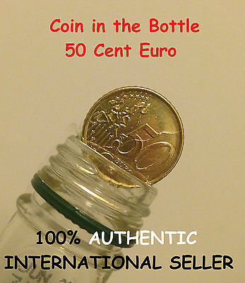 Folding Coin 50 cent Euro / Magic Coin in Bottle 50 cent Euro