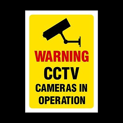 CCTV Cameras in Operation Plastic Sign, Metal or Sticker. Security (MISC31)