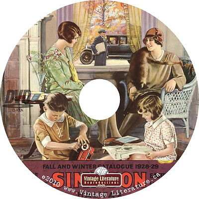 1928 Simpsons Department Store Catalog {Canadian Fashions & Housewares} on DVD
