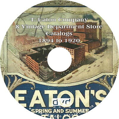 Eaton {Eaton's of Canada Mailorder} Department Store Catalog Collection on DVD