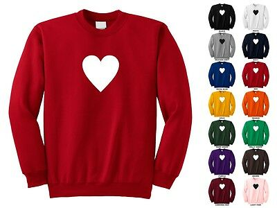 Deck Of Playing Cards Poker Love Romantic Heart Symbol Funny Crewneck Sweatshirt