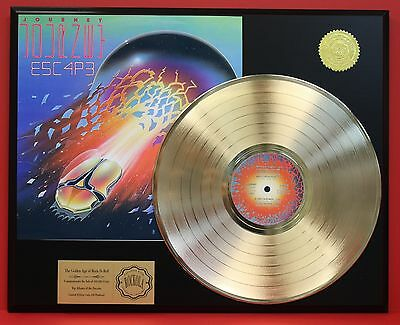Journey - Escape - 24k Gold LP Record Display - Free USA Shipping