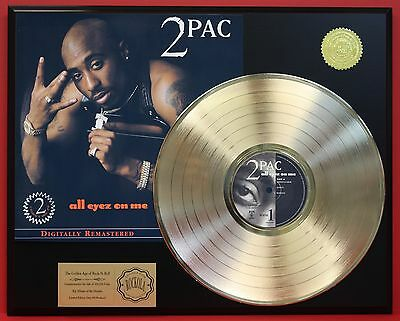2 PAC - All Eyez On Me - 24k Gold LP Record Display - Free Shipping USA