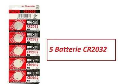 5  pile batterie CR2032   CR 2032  LITIO MAXELL 3V