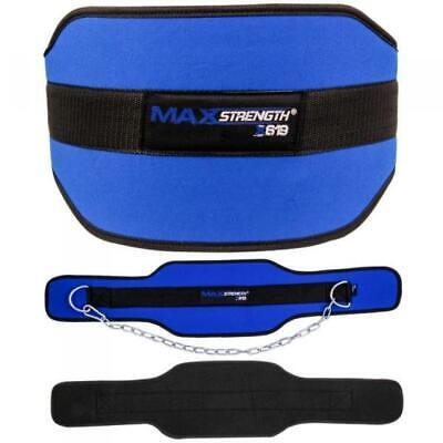 Weightlifting Dipping Belt Neoprene Gym Support Straps Wraps With Dip Chain Fits