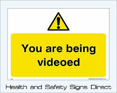 You Are Being Videoed Signs & Stickers Large Sizes! Thick Materials! (S48)