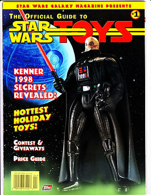 Topps Official Guide to STAR WARS TOYS Magazine 1997 #1 VF+ B&B