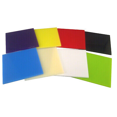 Craft / Schools Pack Of Small 3Mm Thick Coloured Perspex Cast Acrylic Sheets