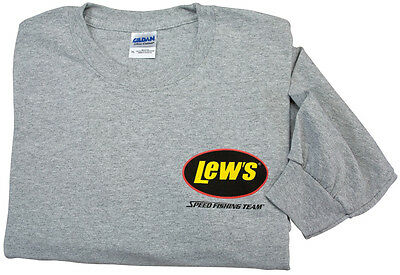 Lew/'s Gray Large Short Sleeve T-Shirt FREE US Shipping