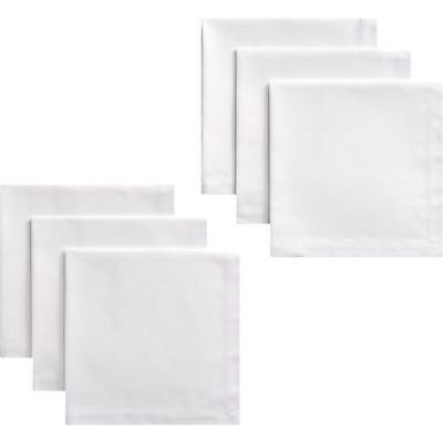 White Or Cream Napkins - Table Linen - Cotton - 6 Per Pack - Bargain!