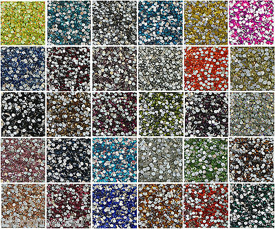 High Quality Machine Cut Foiled Crystal Glass Rhinestones Flat Back Non Hot Fix