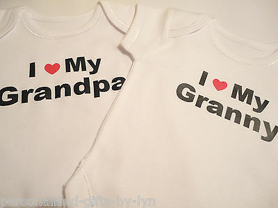 I Love My Grandma Or Grandad Body - Babygrow