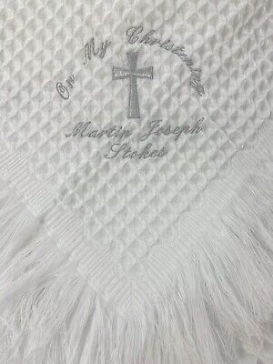 Personalised Christening - Baptism Shawl / Blanket