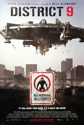 "District 9 Single Sided Original Collectiible DVD Movie Poster 27"" x 40"""