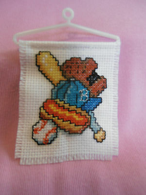 BASEBALL, Completed Cross Stitch Ornament, New, Perfect Gift, Gorgeous Colours
