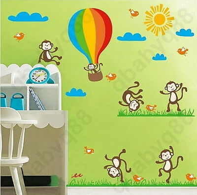 Cheeky Monkey Dance Wall decal Removable sticker home decor kids nursery mural