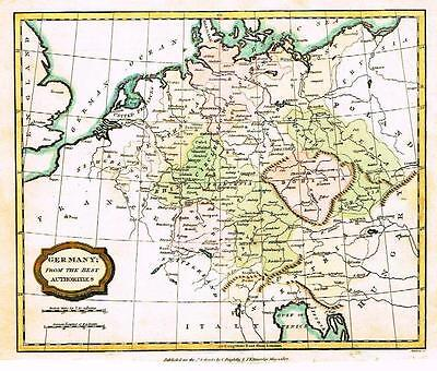 "Barlow Map -1806- ""GERMANY; FROM THE BEST AUTHORITIES"" Hand-Colored Engaving"