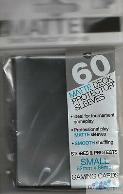 60 ULTRA PRO YUGIOH size DECK PROTECTORS PRO-MATTE CARD SLEEVES SMALL BLACK
