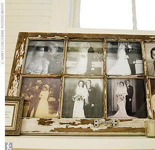 One Old Vintage antique 6 pane sash distressed shabby window early 1930's