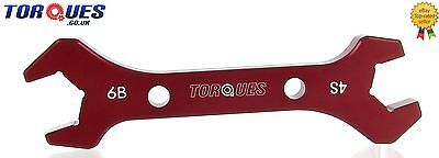 AN -6 AN6 / AN -4  AN4  Double Ended Wrench Spanner Red