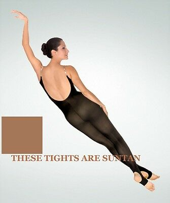 Body Wrappers A93 Women's Size Tall Suntan Body Tights