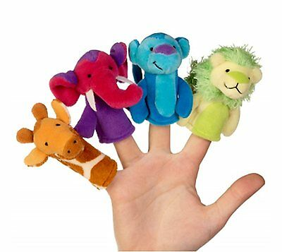 Junglerama Animal Finger Puppet Set X 4 Brand New Great Gift