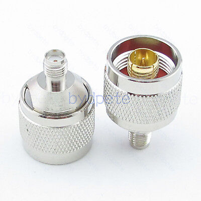 N male plug to SMA female jack straight RF connector adapter