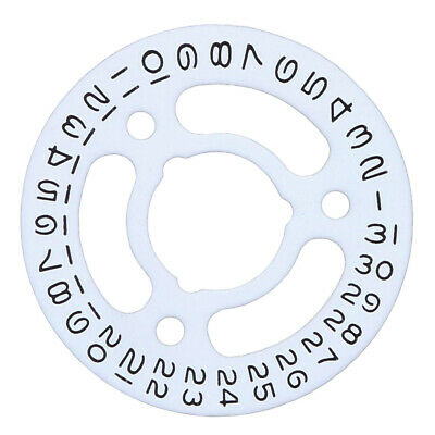 Date Disc For Lady Rolex Watch Movement 2030/2035 White Watch Part