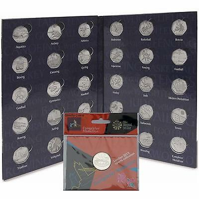 2nd Ed Lighthouse OLYMPIC 50p COIN SPORTS ALBUM + Royal Mint Completer Medallion