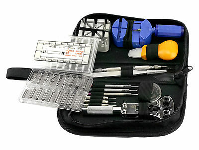 371 pcs Watch Watchmaker Remover Opener Spring Pin Bar Repair Case Tool Full Kit