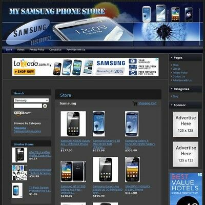 SAMSUNG SMARTPHONE STORE - Galaxy+Note+Ace+Android - Highly Profitable Website!