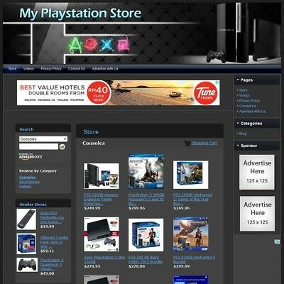 SONY PLAYSTATION CONSOLE & VIDEO GAME STORE - Professionally Designed Website!