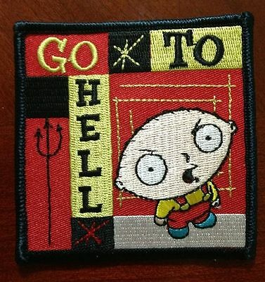 Family Guy Stewie Go To Hell Embroidered Patch