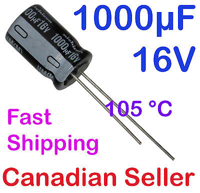 5pcs 1000uF 16V 10x16mm 105C Nichicon HM Ultra Low Impedance For AUDIO PC TV PS