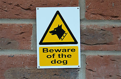 Beware Of The Dog Security Pet Sticker, Window Sticker Or Plastic Sign A6