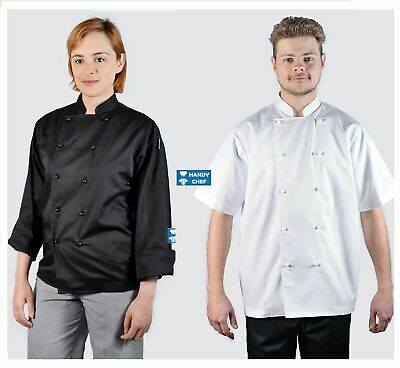 Quality Chef Jacket-Black or White-Brand New See Handychef store for Pants,Apron