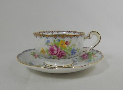 Royal Albert Petit Point Rare Mini Cup and Saucer