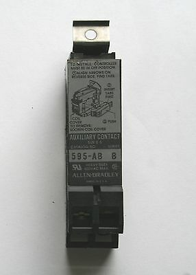 Allen-Bradley 595-AB Used Auxiliary Contact For Nema Size 0-5, 1 N0 - 1 NC