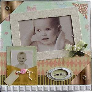"Wholesale / Bulk 5 x Baby Girl Photo Frame 9"" x 9"" BNIB"