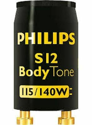 Tanning Bed Starters Philips Body Tone S12  115-140 Watt Free Shipping Lot of 10