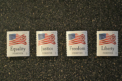 2012USA #4633-4636 Four Flags 2012 Forever Coil Set of 4 Singles (APU) Mint NH