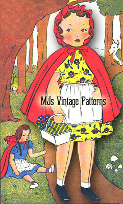 Vintage Little Red Riding Hood Cloth Doll Pattern