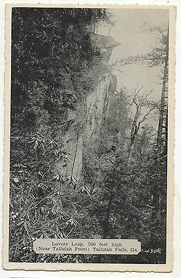 Lovers Leap, Tallulah Falls TALLULAH POINT GA - Vintage Georgia Postcard