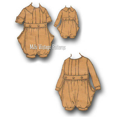 Antique  Vintage 1910 Child's Drop Seat Romper Pattern ~ size 2