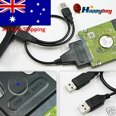"2.5"" HDD SATA Hard Disk Drive to USB 2.0 Interface Converter Adapter Cable"