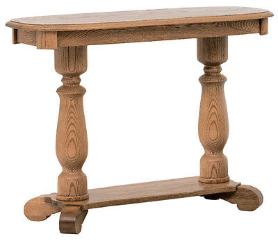 #639 Solid Oak Country Pedestal  Sofa Table