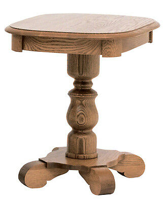 #631 Solid Oak Country Pedestal  End Table
