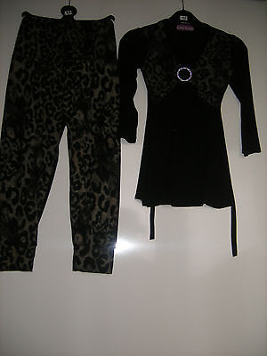 BRAND NEW GIRLS TROUSERS SUIT - Leopard Print  AGE 2-6  YEARS  BY BEBE LONIA