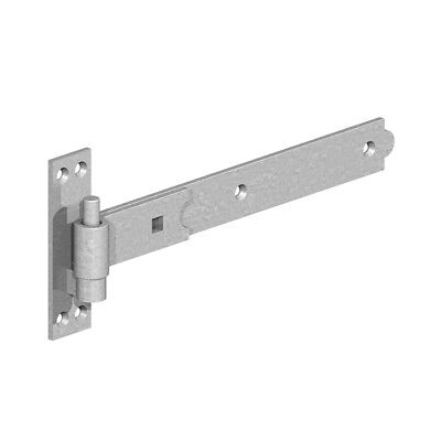 "Straight Hook and Band Hinges 18"" (450mm) Heavy Duty Black or Galvanised"