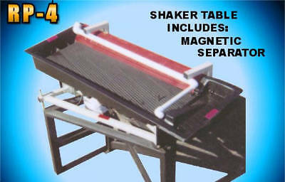 RP4 Shaker Table Gold & Ore concentrating  Separate Gold Silver from sands